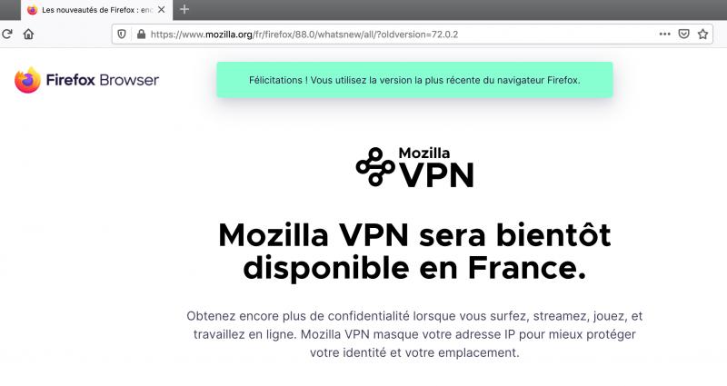 Après Opera, Mozilla va sortir aussi son VPN?